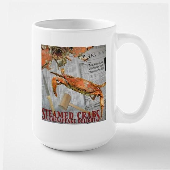 Large Blue Crab Mug