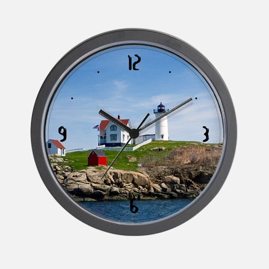Nubble Light Main Wall Clock