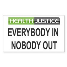 Health Justice Rectangle Decal