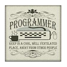 Vintage Programmer Tile Coaster