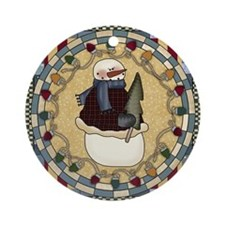 Funny Winter Ornament (Round)