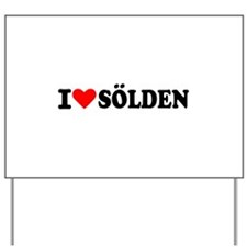 I love Sölden Yard Sign