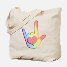 Rainbow I Love You Tote Bag