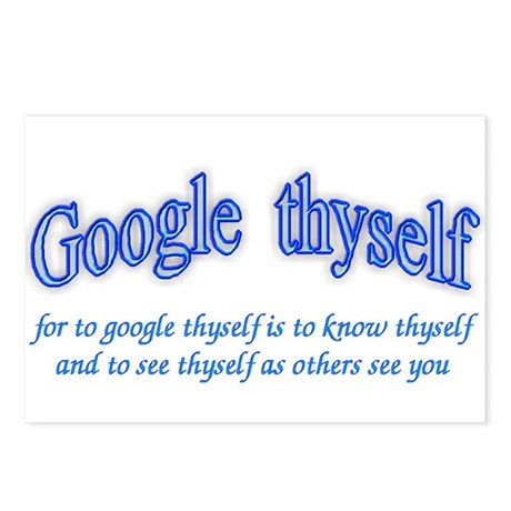 Google thyself Postcards (Package of 8)
