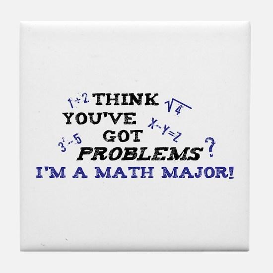 Funny Math Major Tile Coaster
