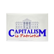 Capitalism is Patriotic Rectangle Magnet