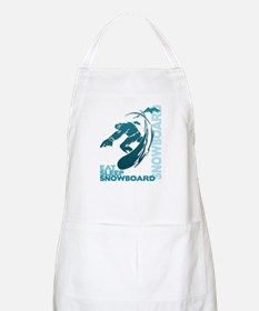 Eat Sleep Snowboard BBQ Apron