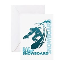 Eat Sleep Snowboard Greeting Card