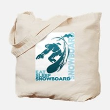 Eat Sleep Snowboard Tote Bag