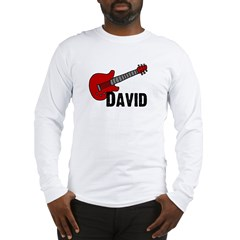 Guitar - David Long Sleeve T-Shirt