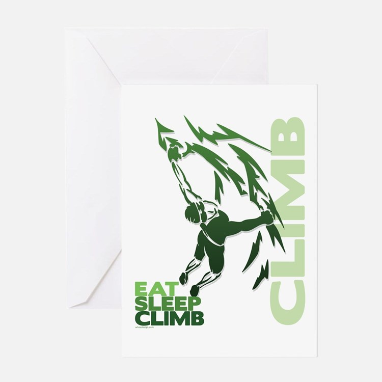 Eat Sleep Climb Greeting Card