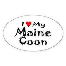 Maine Coon Oval Decal