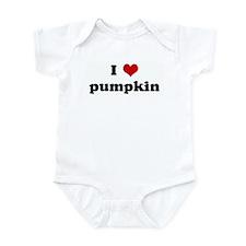 I Love pumpkin Infant Bodysuit