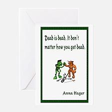 Anna's Dead is Dead Greeting Card
