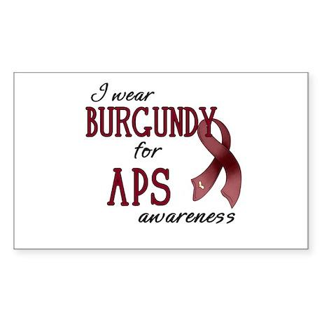 Wear Burgundy - APS Sticker (Rectangle)
