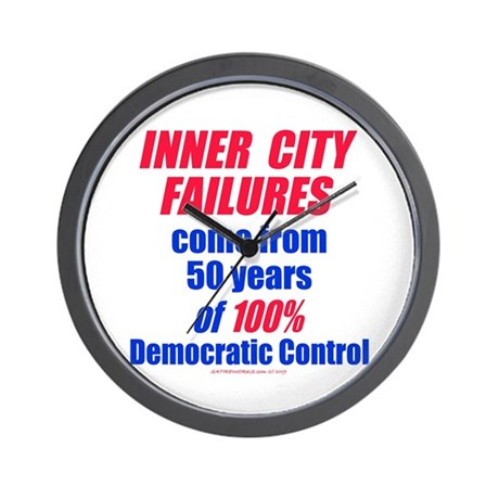 City Failures Wall Clock