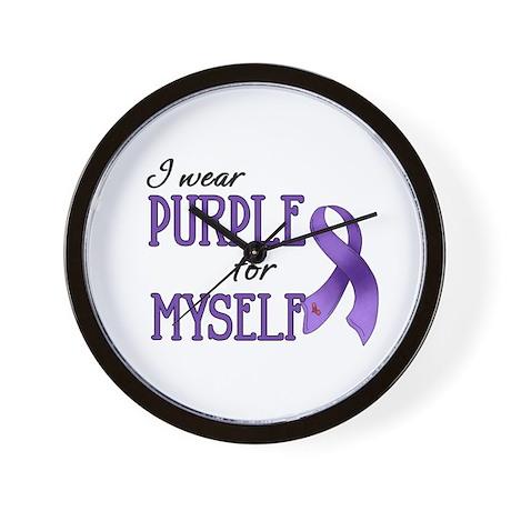 Wear Purple - Myself Wall Clock