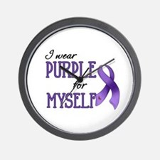Wear Purple - Myself Wall Clock