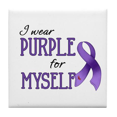 Wear Purple - Myself Tile Coaster