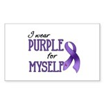 Wear Purple - Myself Rectangle Sticker 10 pk)