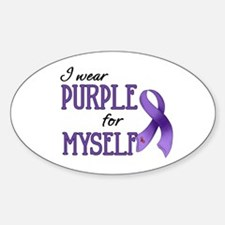 Wear Purple - Myself Oval Decal