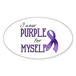 Wear Purple - Myself Oval Sticker (50 pk)