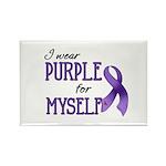 Wear Purple - Myself Rectangle Magnet (10 pack)