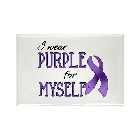 Wear Purple - Myself Rectangle Magnet
