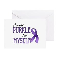 Wear Purple - Myself Greeting Card