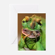 Cute Jacksons chameleon Greeting Card