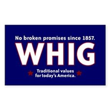 Whig Party Rectangle Decal