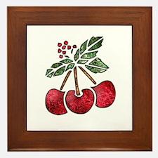 Nature Art Cherry Design Framed Tile