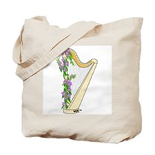 Harp and Flowering Vine Tote Bag