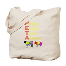 Cute People ethical treatment animals Tote Bag