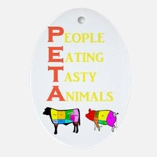 Cute Meat Oval Ornament