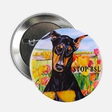 Stop BSL Doberman Button