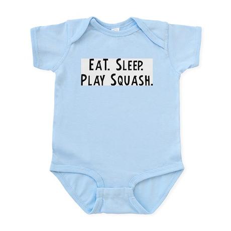 Eat, Sleep, Play Squash Infant Creeper