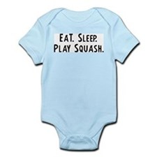 Eat, Sleep, Play Squash Infant Creeper