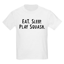 Eat, Sleep, Play Squash Kids T-Shirt