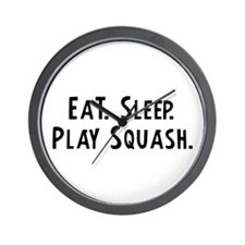 Eat, Sleep, Play Squash Wall Clock