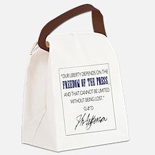 Cute First amendment Canvas Lunch Bag