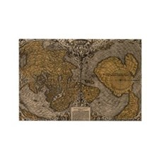 1531 World Map Rectangle Magnet
