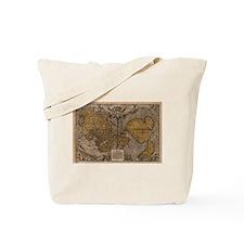 1531 World Map Tote Bag