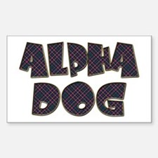 ALPHA DOG Rectangle Decal
