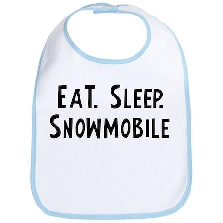 Eat, Sleep, Snowmobile Bib