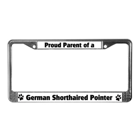 German Shorthaired Poi License Plate Frame