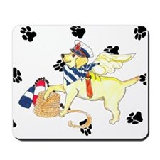 Gulliver's Angels Yellow Sailor Lab Mousepad