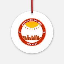 New York City Marathon - I Survived Ornament (Roun