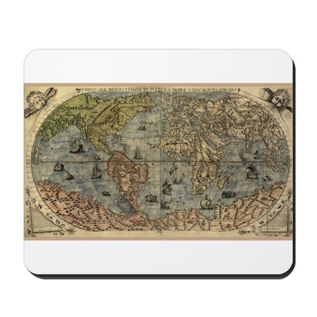1565 World Map Mousepad