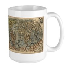 1565 World Map Mug